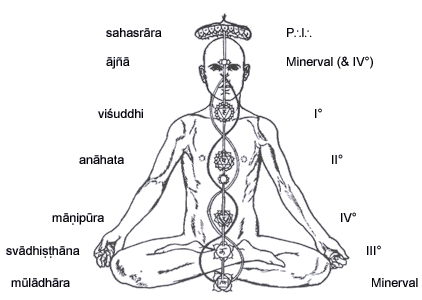 [Image: Chakras correlating with O.T.O. degrees]